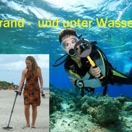 Strand und Unter-Wasser